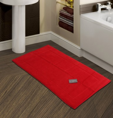 Sferra Cotton Bathroom Mat(Red, Medium) at flipkart