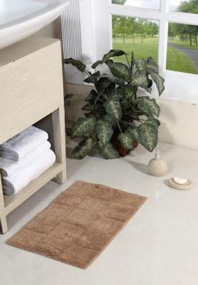 Homefurry Cotton Bathroom Mat Beige, Medium Homefurry Bath Mats