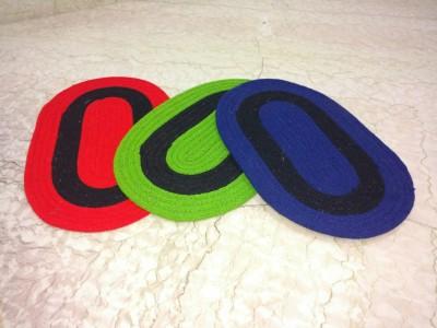 Mangal Acrylic Door Mat set of 3(Multicolor, Large)