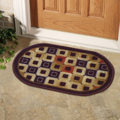 Status Nylon Door Mat Floor Mat(Multicolor, Small) at flipkart