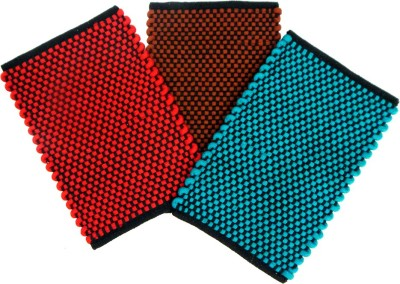 Peponi Polyester Door Mat Polly Cotton Mat(Multicolor, Small)
