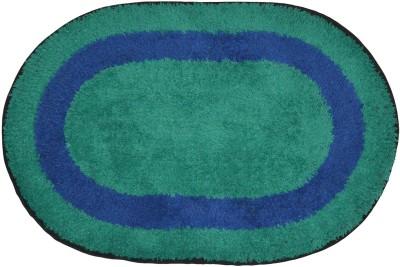 Brabuon Cotton Anti-slip/Anti-grease Mat Elegant Green Oval shape Bathmat (Length 60 cm and Breadth 40 cm)(Green, Free) at flipkart