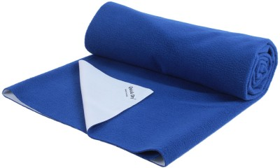 Quick Dry Rubber, Cotton Baby Bed Protecting Mat(Blue, Medium) at flipkart