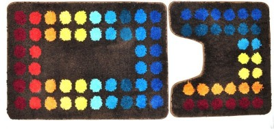Obsessions Polyester Bath Mat SUP8(Multicolor, Large)