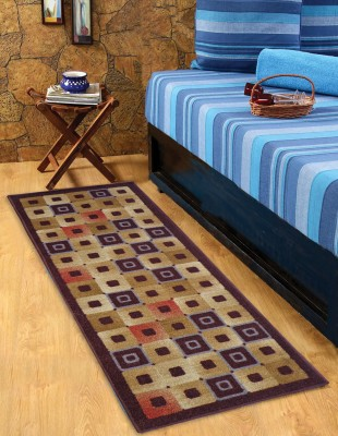Status Multicolor Nylon Area Rug(55 cm  X 137 cm) at flipkart
