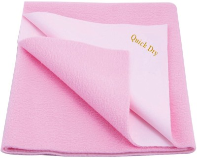 Quick Dry Cotton Baby Bed Protecting Mat(Pink, Extra Large) at flipkart