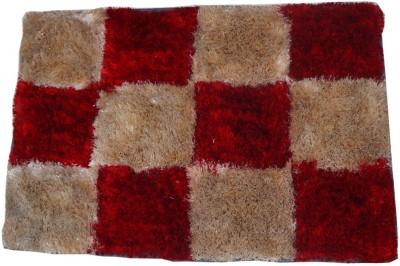 Muren Polyester Door Mat(Red, Small) at flipkart
