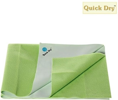 Quick Dry Cotton Baby Bed Protecting Mat Mat Plain Double Bed Pista(Green, Extra Large) at flipkart