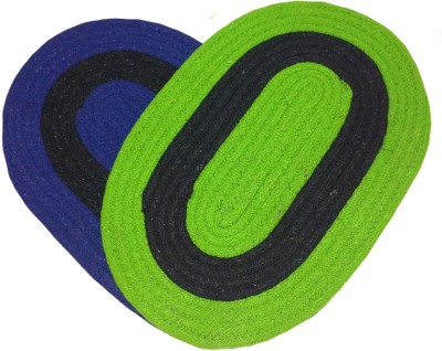 Mangal Acrylic Door Mat set of 2(Blue, Large) at flipkart