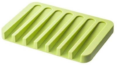 Connectwide Silicone Bath Mat Silicon Soap Drying Mat(Green, Small) at flipkart