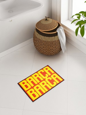 SPACES Cotton Bathroom Mat(Red, Small) at flipkart