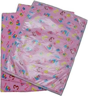 Chhote Janab Cotton Changing Mat BABY NAPPY CHANGER (3 FOAM COTTON + 1 PLASTIC)SHEET(Pink, Small)