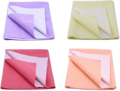 Rapid Dry Polyester Baby Bed Protecting Mat Mat(Multicolor, Small)