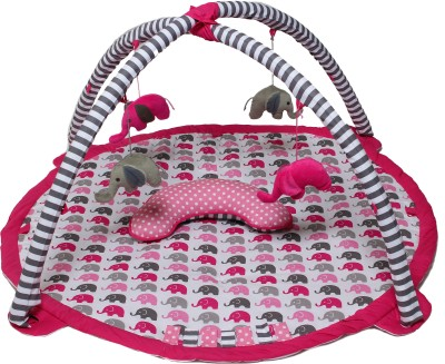 Bacati Cotton Baby Play Mat(Pink, Free) at flipkart