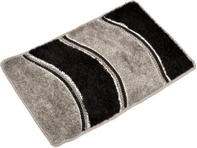 Nirmal Home Furnishing Velvet Door Mat Welcome(Black, Grey, Extra Large)