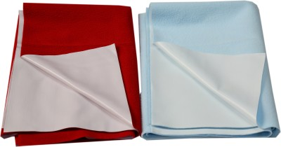 Eazidry Cotton Baby Bed Protecting Mat Red, Blue, Small
