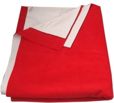 Quick Dry Cotton Baby Bed Protecting Mat Mat Quick Dry Plain Double Bed Red(Red, Extra Large)