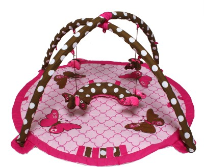 Bacati Cotton Baby Play Mat(Pink, Brown, Free) at flipkart