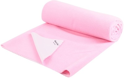Quick Dry Cotton, Rubber Baby Bed Protecting Mat Mat Bed Protector - 2.6m x 2m (Double Bed)(Pink, Extra Large)