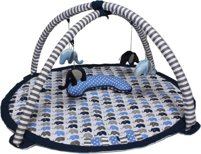 Bacati Cotton Baby Play Mat(Blue, Large) at flipkart
