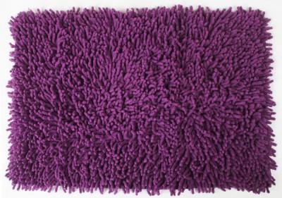 Saral Home Cotton Bath Mat Soft Cotton Saggy Bath mat 40X60 Cm -1Pc(Purple, Large) at flipkart