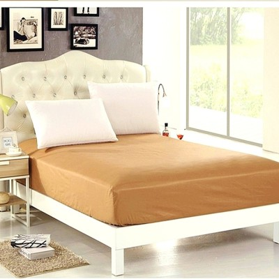 Sleep Matic Fitted King Size Waterproof Mattress Protector(Brown, Beige)