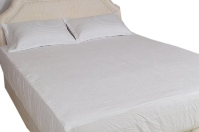 Trance Home Linen Fitted King Size Waterproof Mattress Protector(White)
