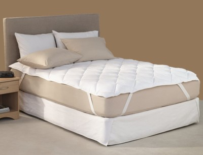 Adithya Fitted King Size Waterproof Mattress Protector(White) at flipkart