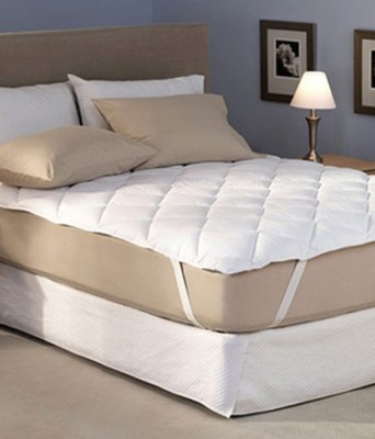 A'la Mode Creations Elastic Strap King Size Mattress Protector(White) at flipkart
