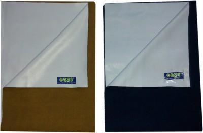 Eazi Breathable Waterproof Mattress Protector set of 2(Camle, Blue)