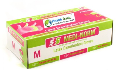 Medi-norm Disposabe Latex Examination Gloves(Pack of 100)