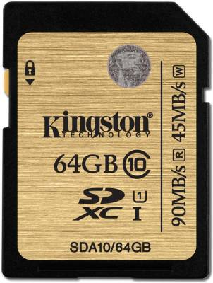 Kingston-SDA10/64GBIN-64GB-SDXC-Class-10-UHS-1-90MB/s-Memory-Card