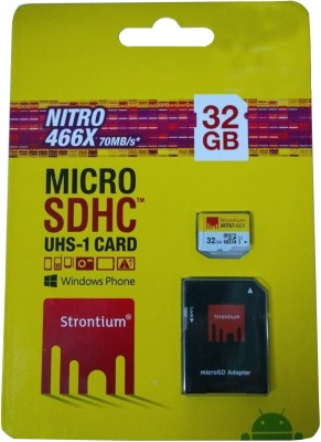 Strontium-Nitro-32GB-MicroSDHC-Class-10-70MB/s-Memory-Card-(With-Adapter)