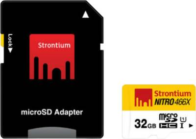 Strontium-Nitro-466X-32GB-MicroSDHC-Class-10-(70MB/s)-Memory-Card-(With-Adapter)