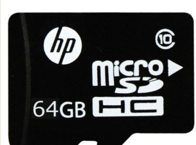 HP micro 64 GB MicroSD Card Class 10 90 MB/s  Memory Card at flipkart