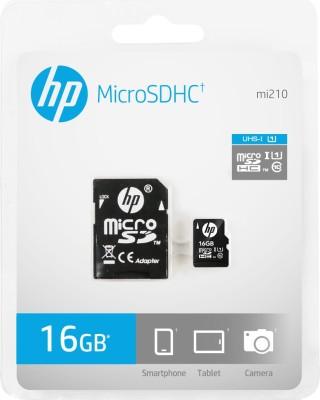HP U1 16 GB MicroSD Card Class 10 90 MB/s  Memory Card(With Adapter)
