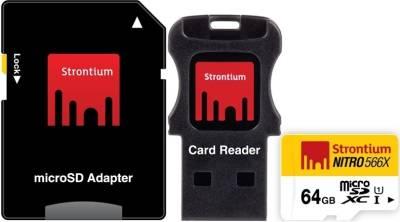 Strontium-Nitro-566x-64GB-MicroSDXC-Class-10-(85MB/s)-MemoryCard-(With-Card-Reader-&-Adapter)