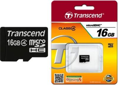 Transcend-16GB-MicroSDHC-Class-4-(4MB/s)-Memory-Card