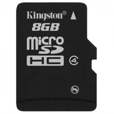 Kingston-8GB-MicroSDHC-Class-4-(4MB/s)-Memory-Card