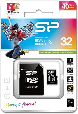 Silicon-Power-32GB-MicroSDHC-Class-10-Memory-Card-(With-Adapter)