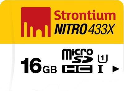 At ₹449 Strontium Nitro 16 GB MicroSDHC Class 10 65 MB/s  Memory Card