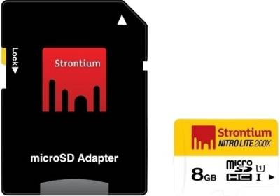 Strontium-NitroLite-200X-8GB-MicroSDHC-Class-10-(30MB/s)-UHS-1-Memory-Card-(With-Adapter)