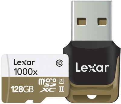 Lexar-1000x-128GB-MicroSDXC-(150MB/s)-UHS-II/U3-Memory-Card-(With-USB-Reader)