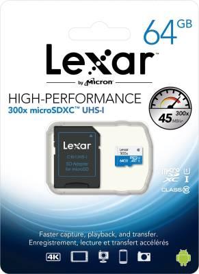Lexar-300x-64GB-MicroSDXC-Class-10-Memory-Card-(With-Adapter)