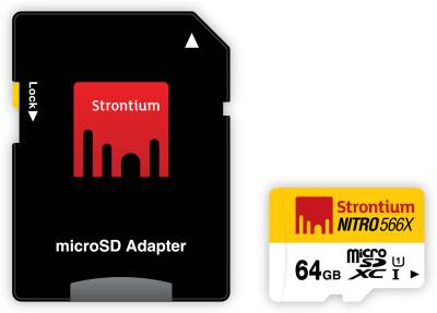 Strontium-Nitro-566x-64GB-Class-10-UHS-1-(85MB/s)-MicroSDXC-Memory-Card-(With-Adapter)