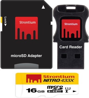 Strontium Nitro 16 GB SDHC Class 10  Memory Card(With Adapter) at flipkart