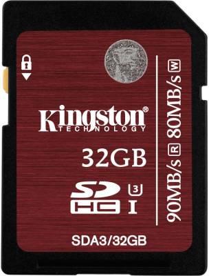 Kingston-SDA3/32GB-32GB-SDHC-Class-3-UHS-I-90MB/s-Memory-Card