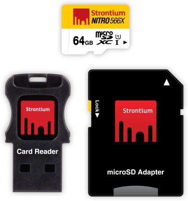 Strontium Nitro 566X microSDXC I (65MB/s, Yellow and White)