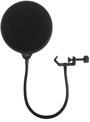 Powerpak Studio Microphone Mic Wind Screen Swivel Mount, 360 Flexible Gooseneck Holder Pop Filter(Black)