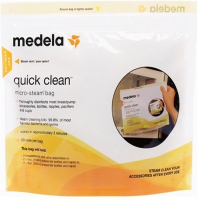 Medela Quick Clean Box of 5 Bags(Pack of 5, Clear)